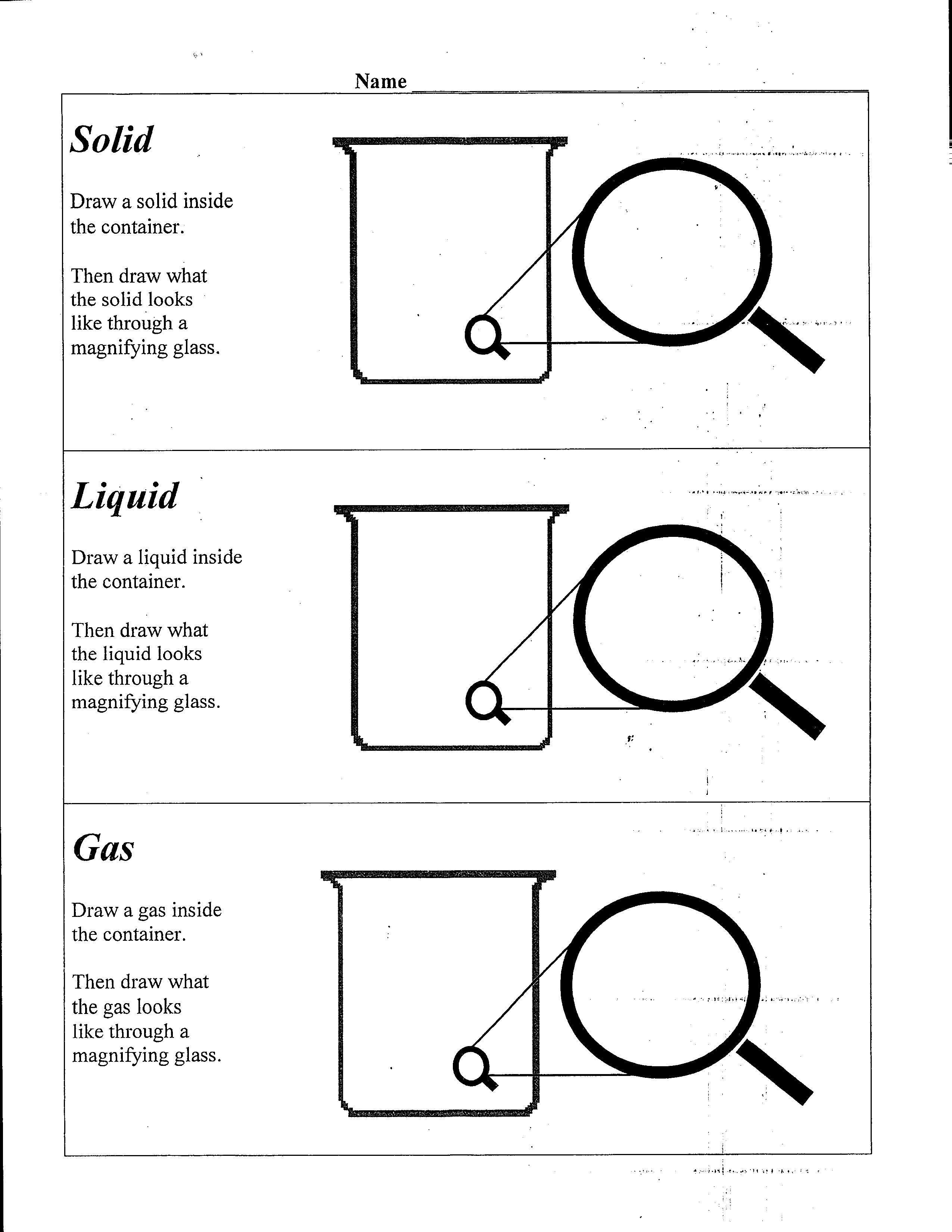Worksheets Solids Liquids And Gases Worksheets worksheet solid liquid gas fun study 28 templates solids liquids and by gases